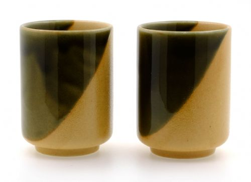 Sand Dunes Ceramic Japanese Tea Cups X 2